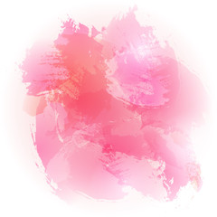 watercolor pink brushed vector background