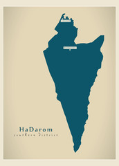 Modern Map - HaDarom IL