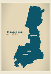 Modern Map - HaMerkaz IL