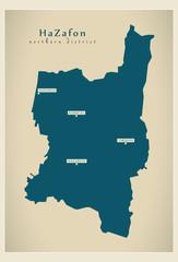Modern Map - HaZafon IL