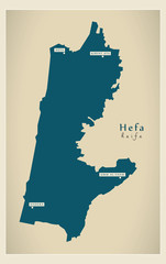 Modern Map - Hefa IL