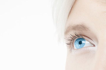 Close up of a beautiful young woman's eye.