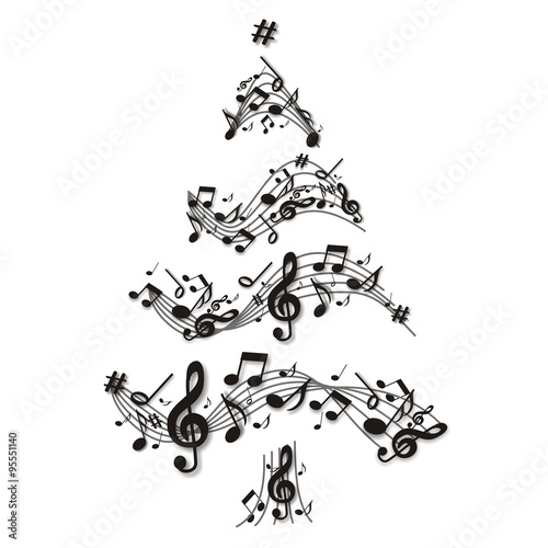 musikalischer weihnachtsbaum stockfotos und lizenzfreie. Black Bedroom Furniture Sets. Home Design Ideas
