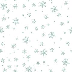 Snowflake vector pattern.