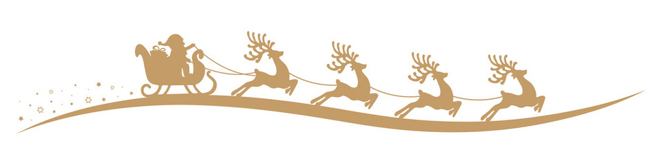 santa claus reindeer sleigh isolated background
