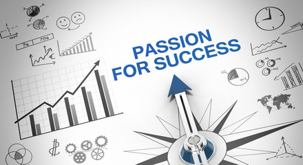 Passion for success Wall mural