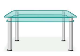 glass table furniture vector illustration
