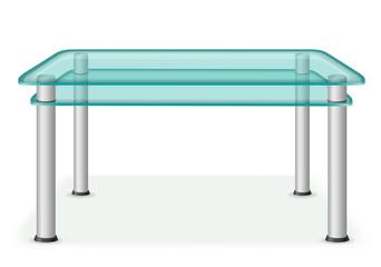 glass table furniture vector illustration