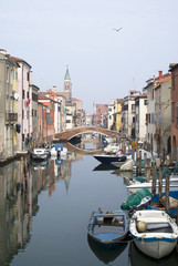 Italy, Chioggia. View of Canal Vena