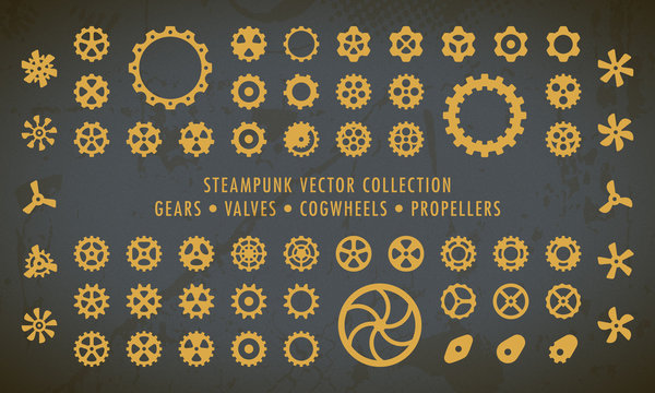 Steampunk Collection - Gears, Valves & Propellers