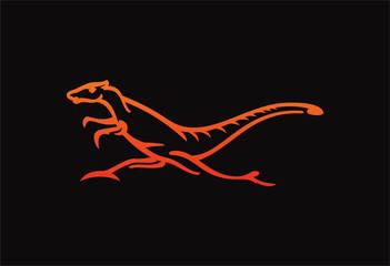 lizard vector design