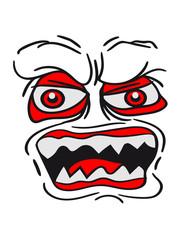 scary monster horror halloween evil face pattern