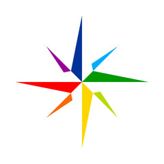 Colorful Star Compass