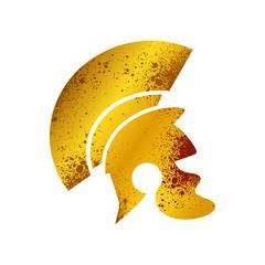 Roman Golden Rusty Blooded War Helmet