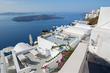 Santorini - The  luxury resort in Imerovigili to caldera with the cruises.