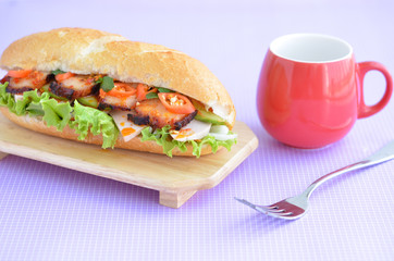 vietnam banh mi. Banh mi is kind of vietnamese sandwich