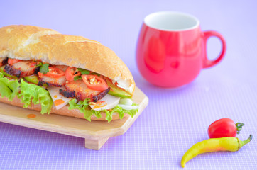 vietnam banh mi. Banh mi is kind of vietnamese sandwich