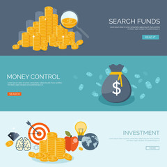 Flat vector illustration background. Money and money making. Web payments. World currency. Internet store, shopping. Pay per click. Business