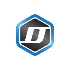 D Hexagonal Logo