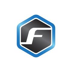 F Hexagonal Logo