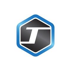 T Hexagonal Logo