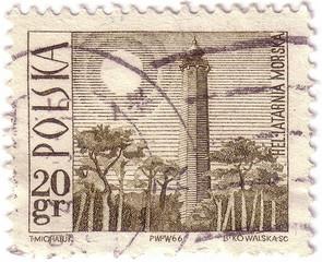 POLAND -CIRCA 1966: A stamp printed in Poland shows Light house, circa 1966