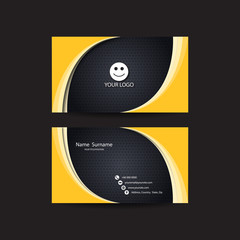 Modern business card, yellow and black colors