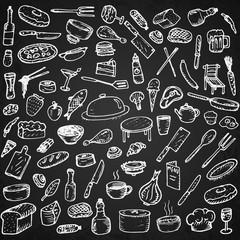 Set of restaurant icons.