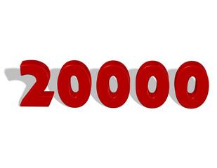 20000, yirmi bin