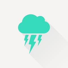 Vector flash icon. Epsgreen0