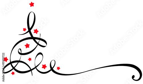 stilisierter weihnachtsbaum mit sternchen stockfotos und. Black Bedroom Furniture Sets. Home Design Ideas