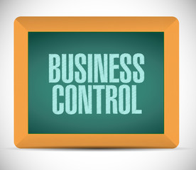 business control board sign concept