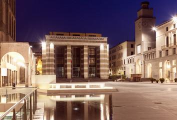 Poster Treinstation Piazza della Victoria in Brescia