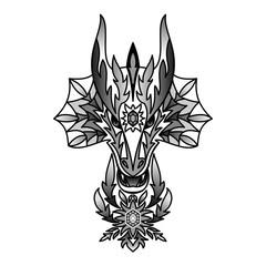 Ornamental Black Dragon
