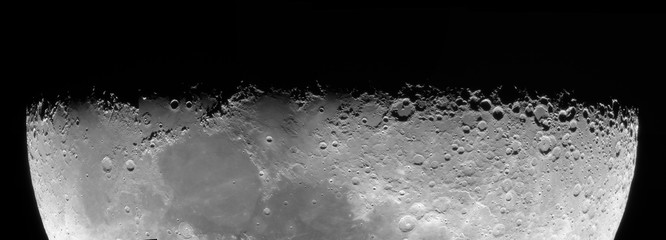 Lunar terminator through a telescope