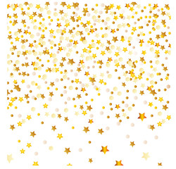 Golden Abstract stars on isolated background