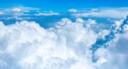 Keuken foto achterwand Hemel Aerial view ,Looking at cloud on airplane,Nature landscape