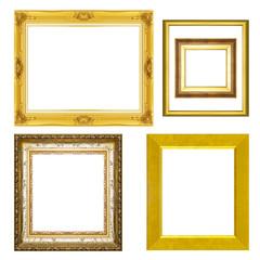 set antique frame isolated on white background