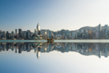 blur abstract city background,Hong Kong