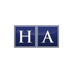 Letter Initial Logo HA