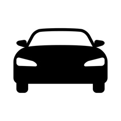 Luxury car front view flat icon for apps and websites