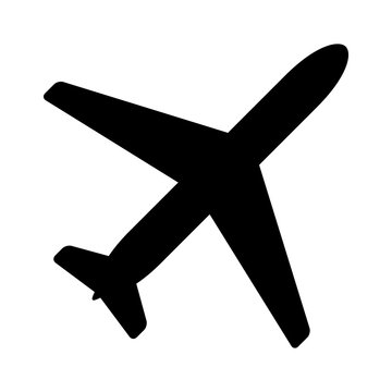 Airplane aviation flat icon for apps and websites