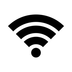 Wifi wireless internet signal flat icon for apps