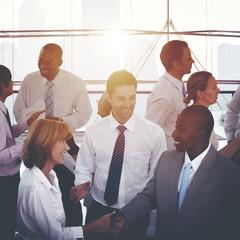 Business People Handshake Agreement Corporate Concept