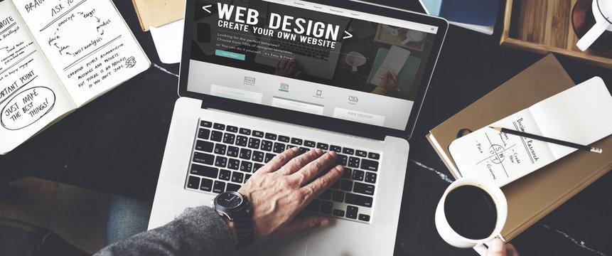 Web Desegn Ideas Creativity Internet Online Multimedia Concept