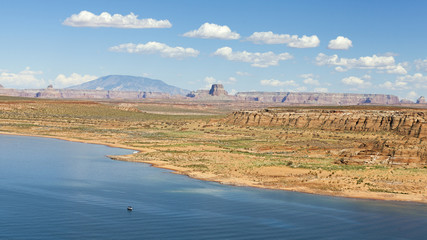 Panoramic picture of Lake Powell in Arizona, USA.