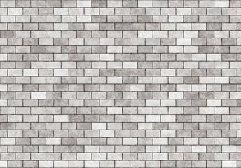 hi-res grey small brick wall pattern