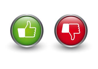 Zustimmung - Ablehnung Button