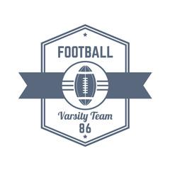 American Football team vintage logo, print, vector illustration