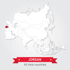 Jordan. All the countries of Asia.